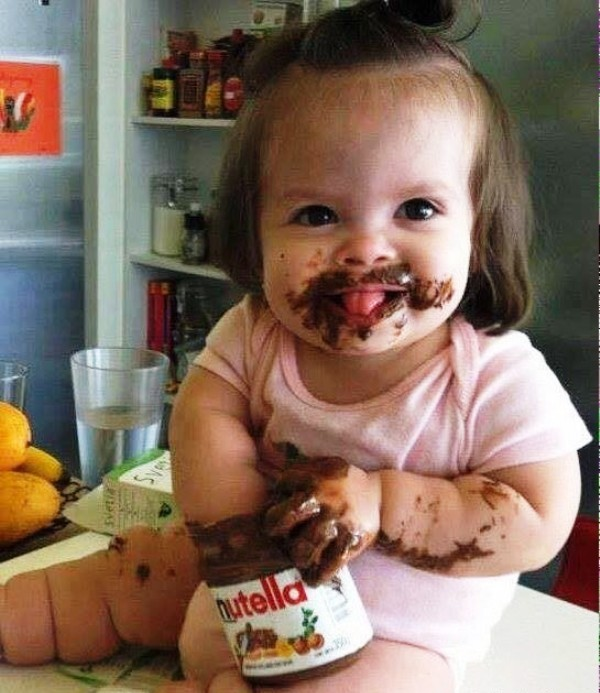 Baby Eating Chocolate - DesiComments.com