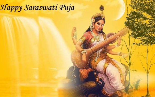 Picture: Beautiful Pic Of Happy Saraswati Puja