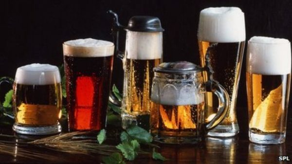 Beer Glasses With Mint