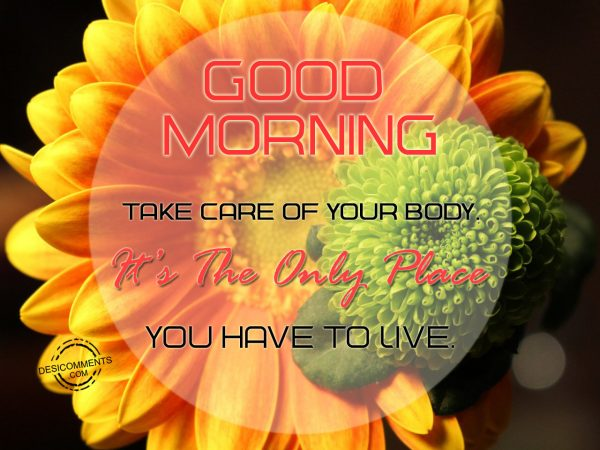 Good Morning.... Take Care Of Your Body.