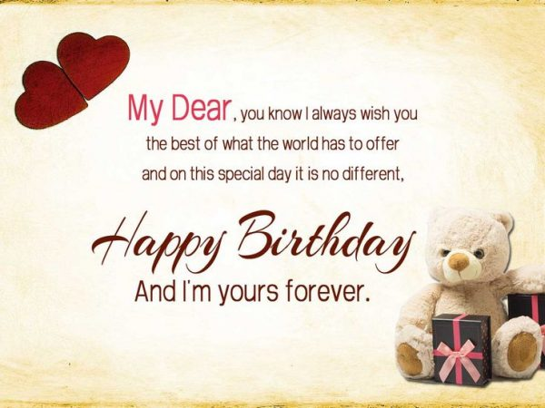 Picture: Happy Birthday And I Am Yours Forever