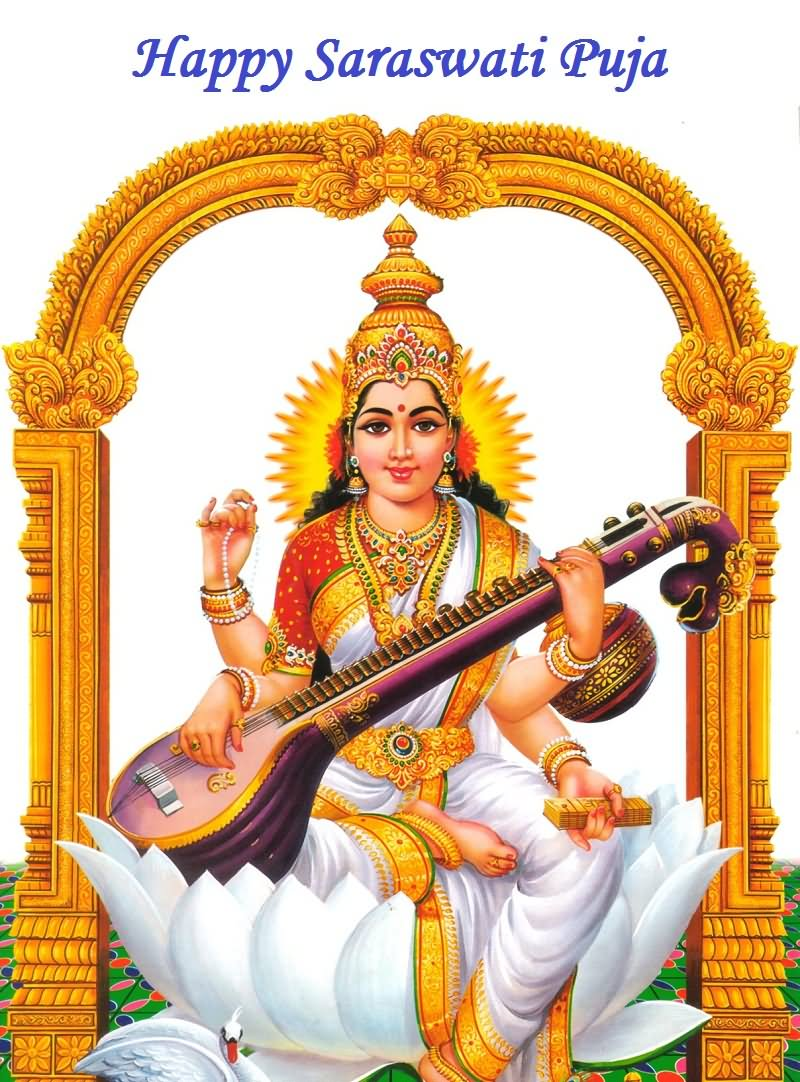 saraswati puja pictures images graphics facebook whatsapp page