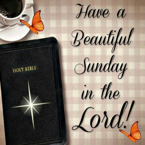 Have A Beautiful Sunday In The Lord