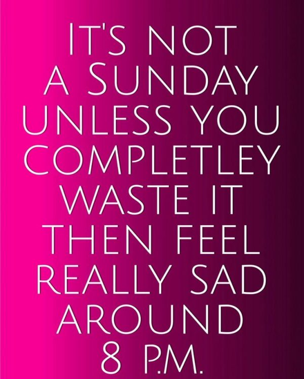Its Not A Sunday Unless You Completely Waste