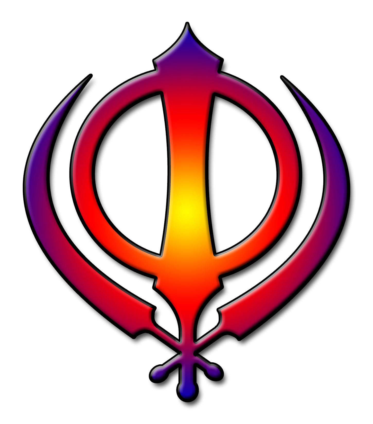 how to draw sikh symbol
