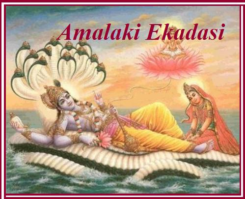Lord Vishnu Withe Luxmi On Amalaki Ekadasi