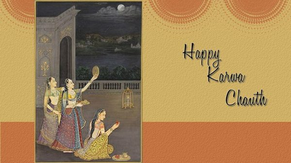 Lovely image of happy Karva Chauth