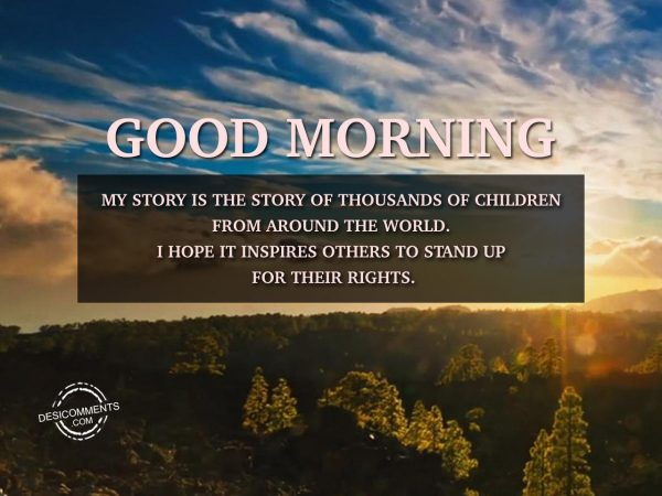 My Story is the Story Of Thousands Of Children From Around The World