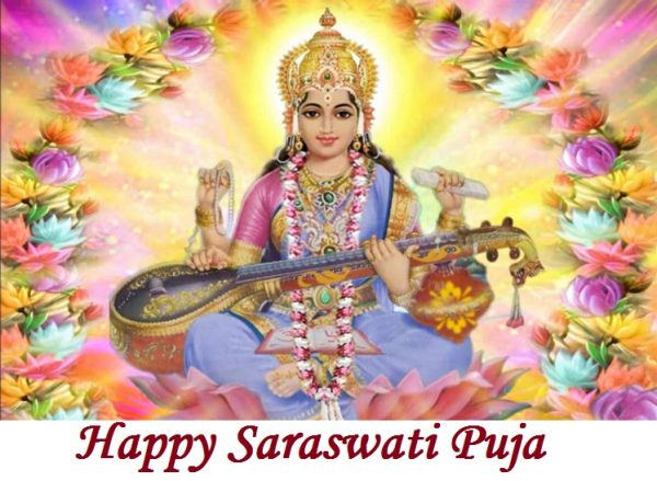 Nice Pic Of Happy Saraswati Puja