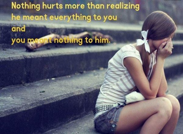Nothing Hurts More Than Realizing