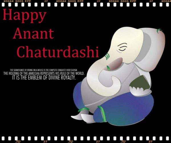 PIcture Of Happy Anant Chaturdashi