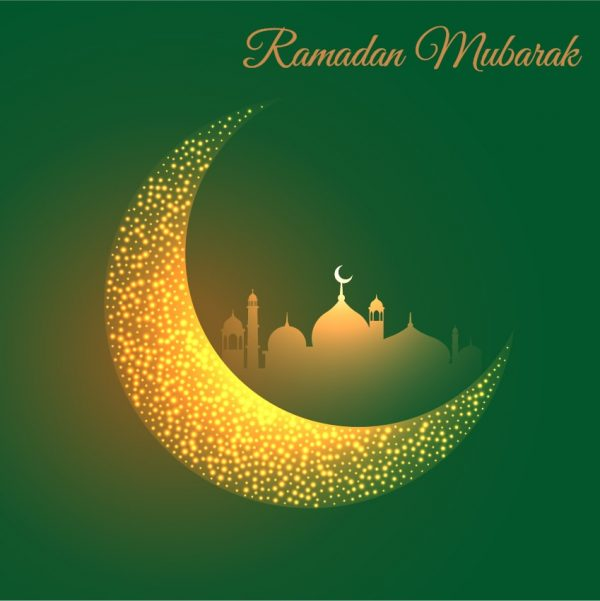 Ramadan Mubarak With Moon