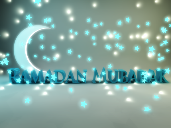 Ramadan Mubarak With Moon And Star