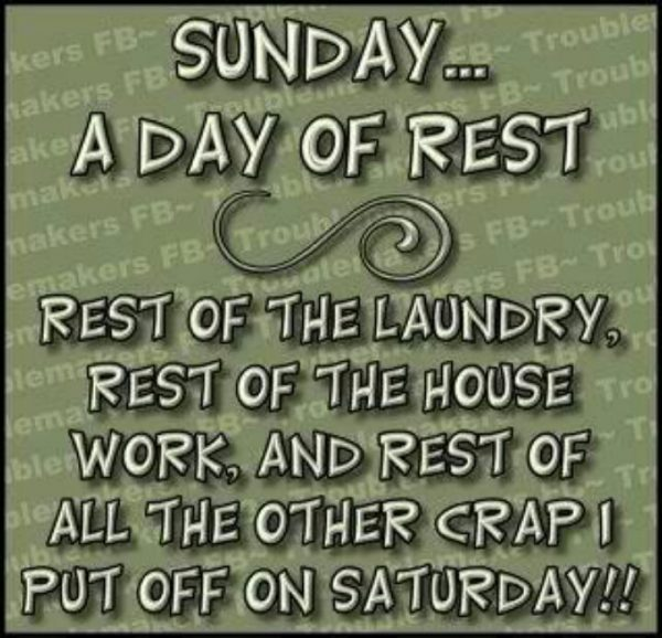 Sunday A Day Rest