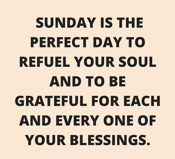 Sunday Is The Perfect Day