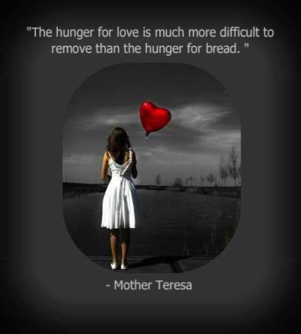 The Hunger For Love Is Much More Difficult