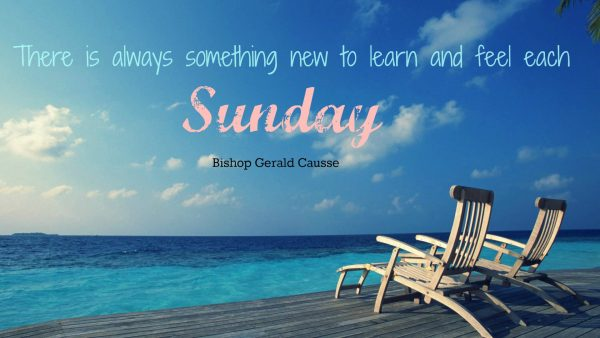 There Is Always Something New To Learn And Feel Each Sunday