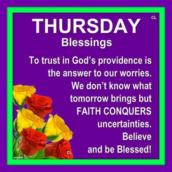 Picture: Thursday Blessings !