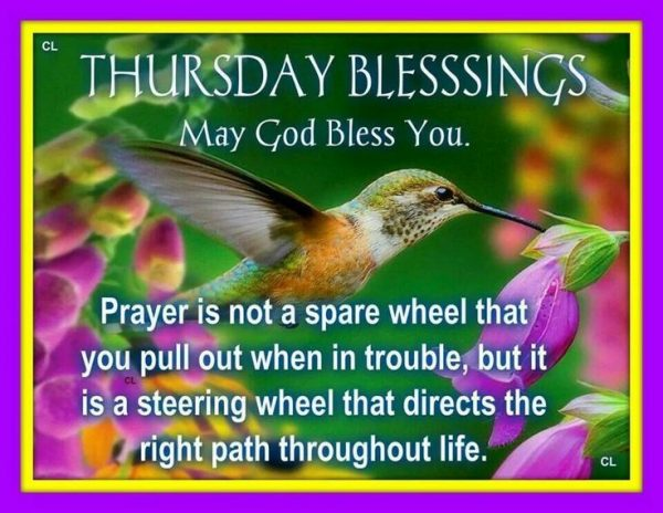 Thursday Blessings May God Bless You