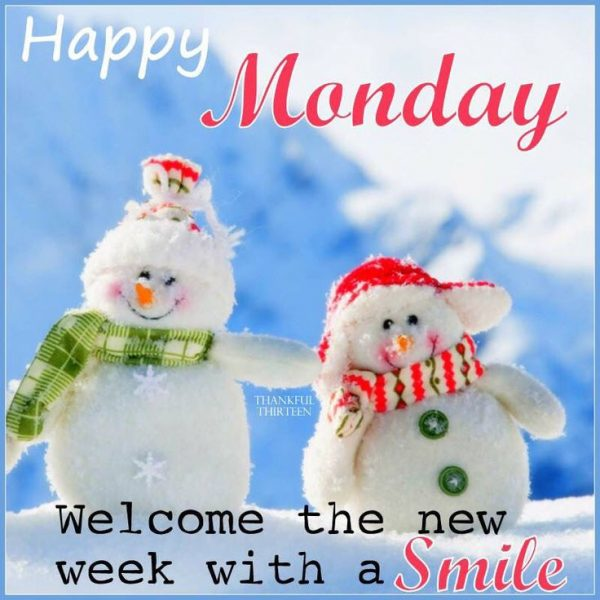 Welcome the new week with a smile
