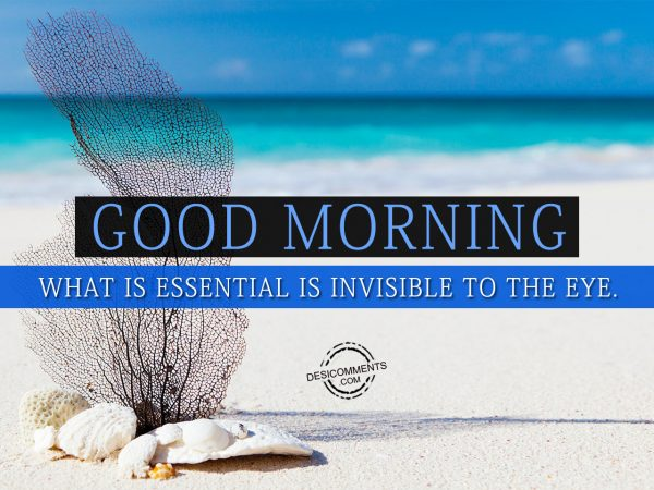 That Which Is Essential Is Invisible To The Eyes: Good Morning Pictures, Images, Graphics For Facebook