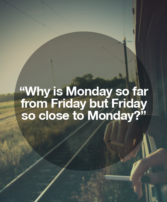 Why is monday so far from friday