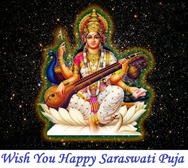 Wish You Happy Saraswati Puja Pic