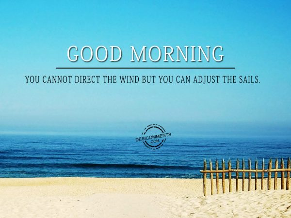 You Cannot Direct The Wind But You Can Adjust The Sails