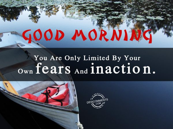 Your Are Only Limited By Your Own Fears And Inaction