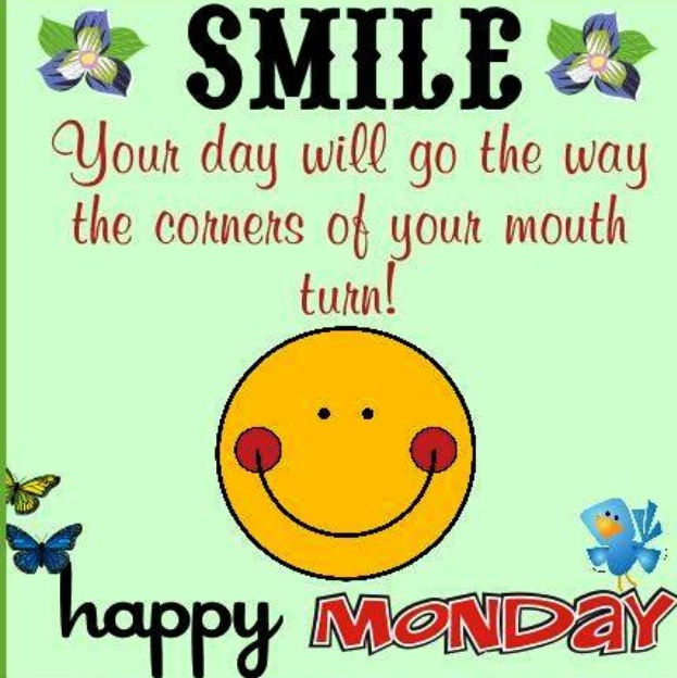 Monday pictures images graphics your day will go the way the corners of your mouth turn voltagebd Gallery