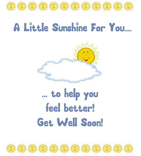 A Little Sunshine For You To Help You