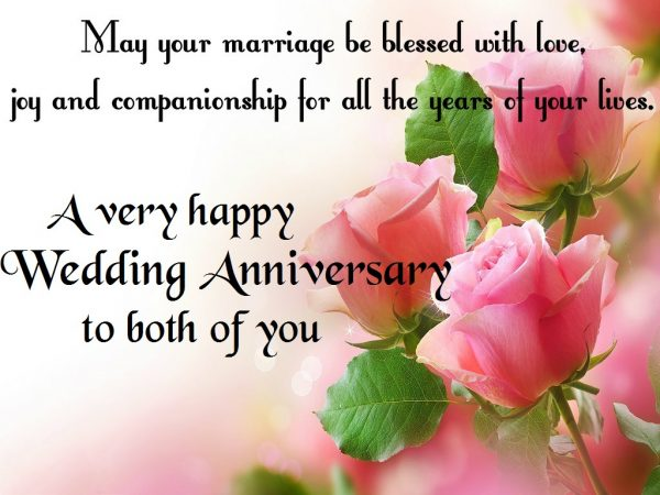 A Very Happy Wedding Anniversary To Both Of You