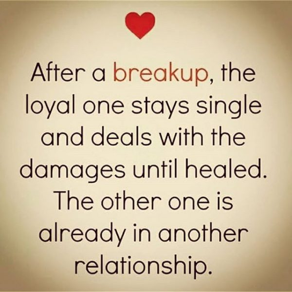 After A Breakup The Loyal One Stays Single And Deals
