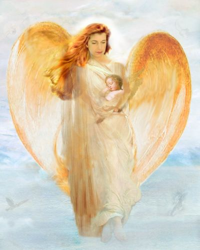 Angel Take Care Of Baby Graphic