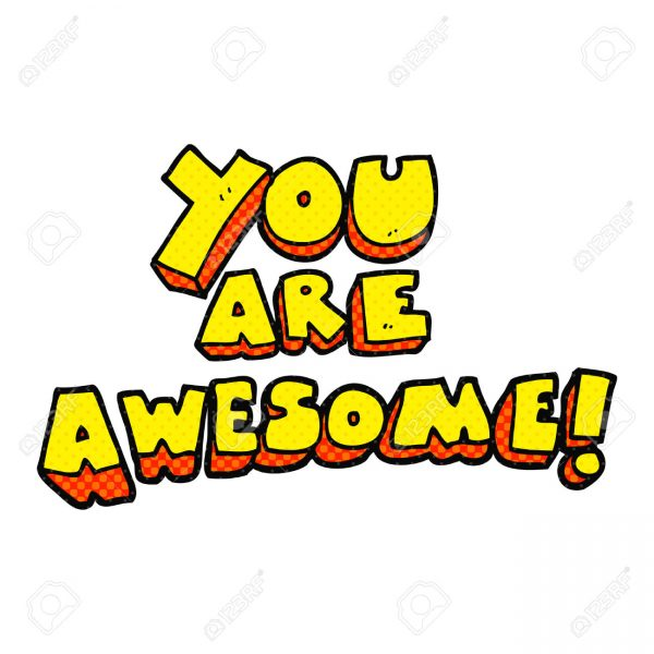Cartoon You Are Awesome