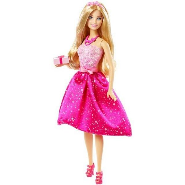 Barbie Doll Holding Gift