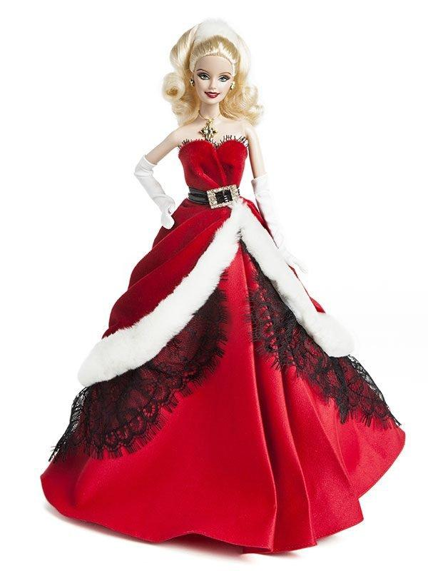 Barbie Doll Wearing Red Dress