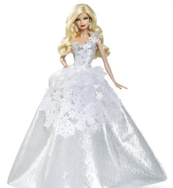 Barbie Doll Wearing White Dress