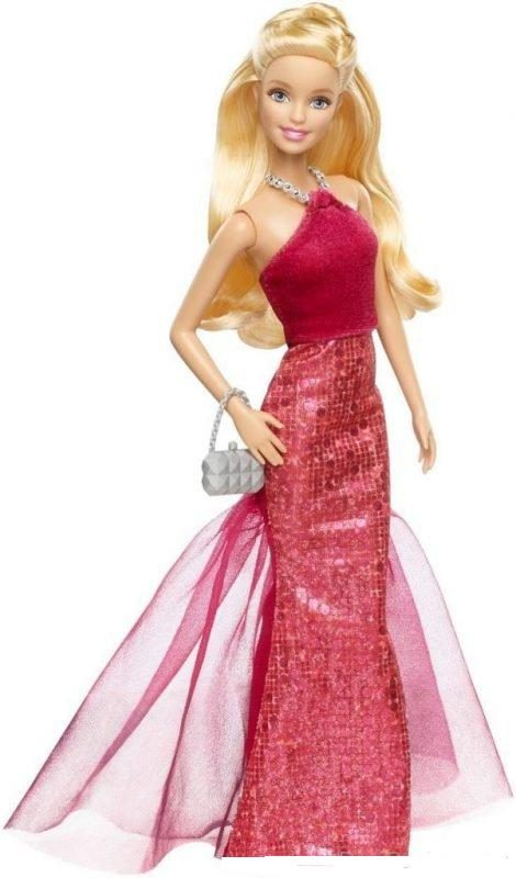 Barbie Doll With Red Halter Gown