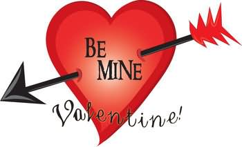 Be Mine Valentine Heart Graphic