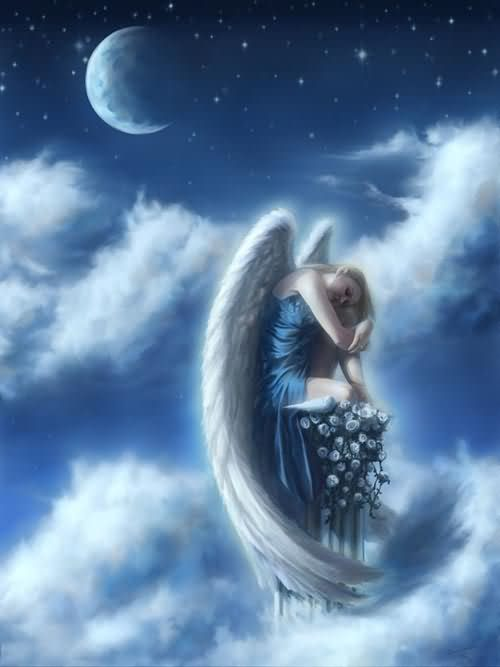 Beautiful Animated Angel Graphic