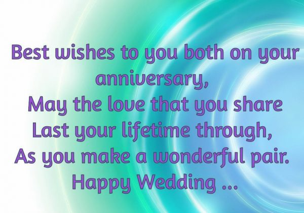 Best Wishes To Both On Your Anniversary