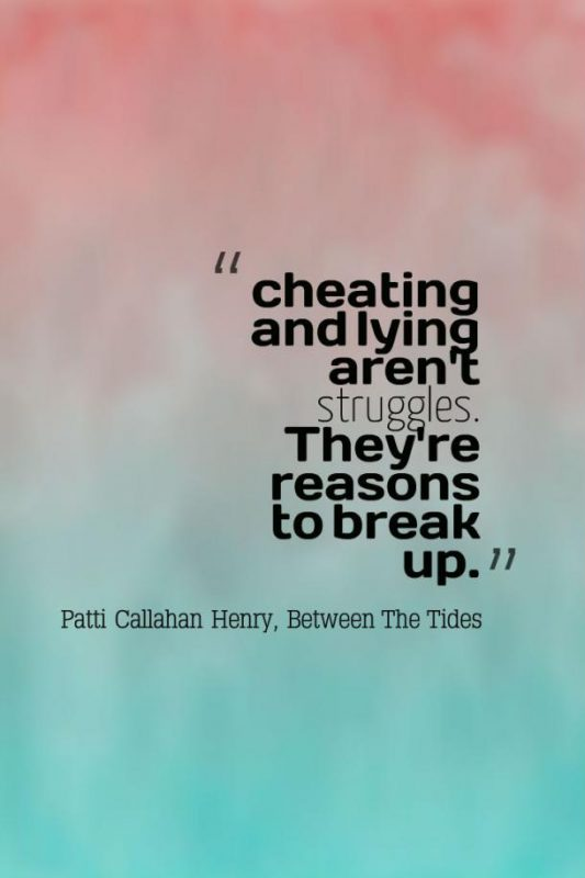Cheating And Lying Arent Struggles