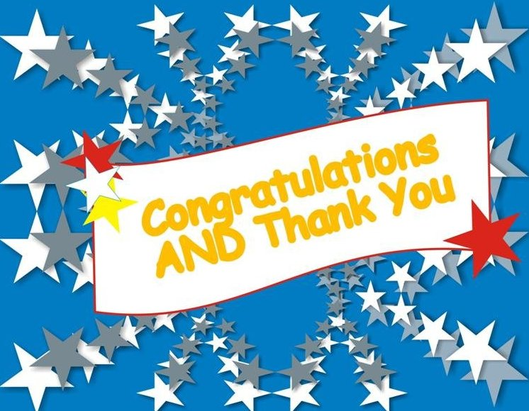 Image result for congratulations and thank you