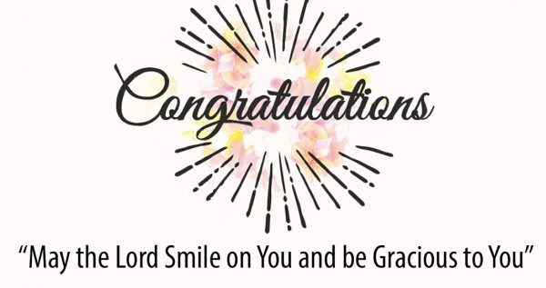 Congratulations May The Lord Smile On You And Be Gracious To You