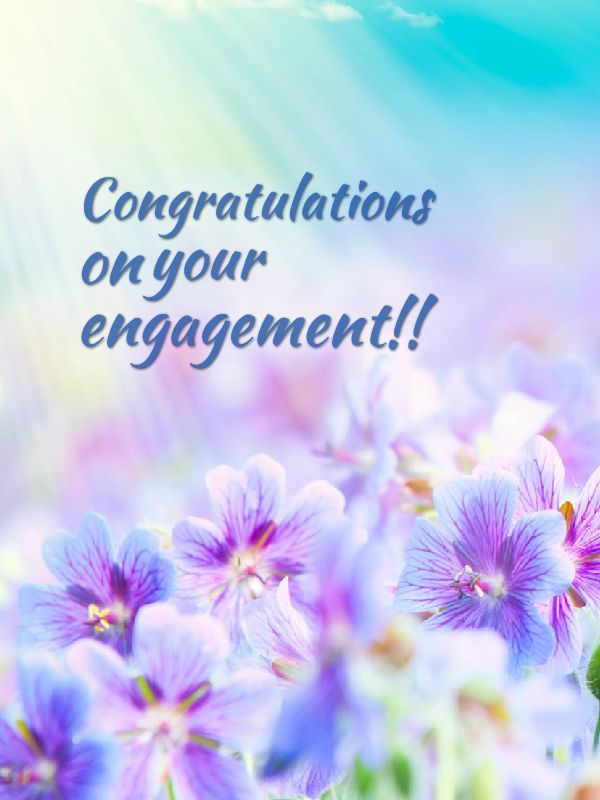 Congratulations On Your Engagement !!