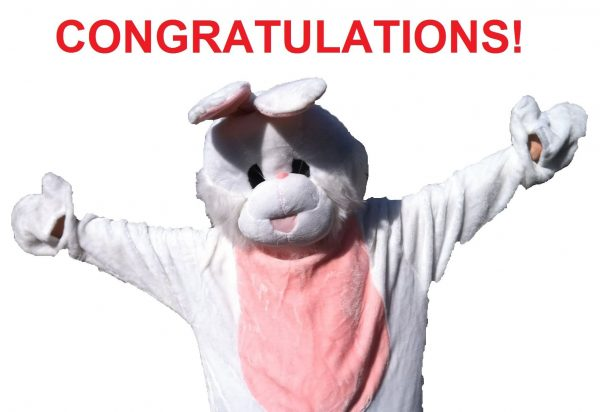 Congratulations Rabbit Graphic