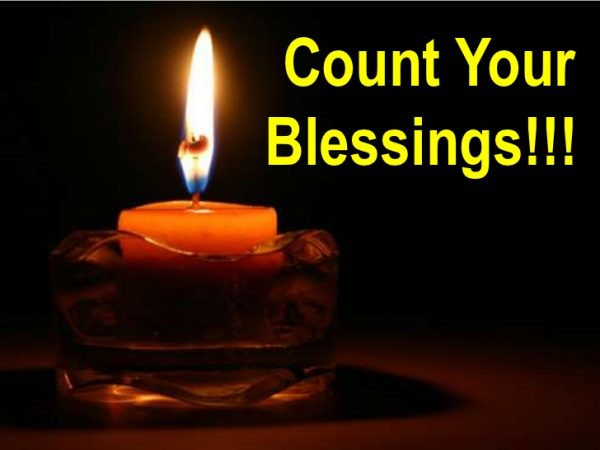 Count Your Blessings Lighting Candle Picture