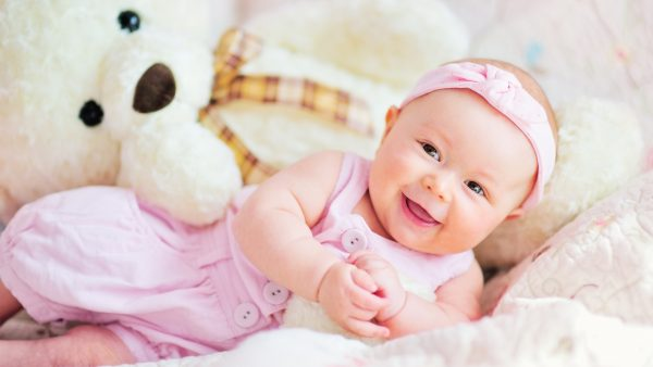 Cute Baby With Teddy Bear