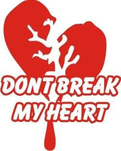 Dont Break My Heart Graphic